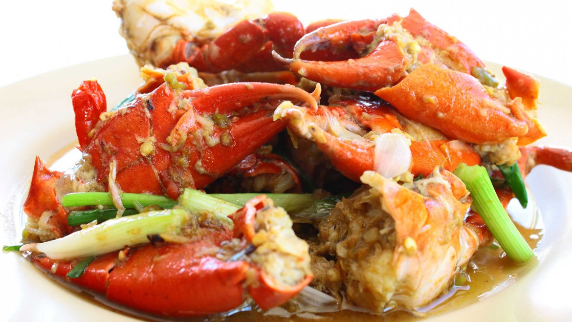 Stir Fry Crabs with Ginger and Scallions